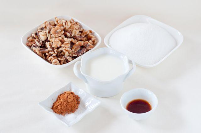 Spiced/Candied Walnuts -walnuts, sugar, milk, cinnamon, salt, and ...