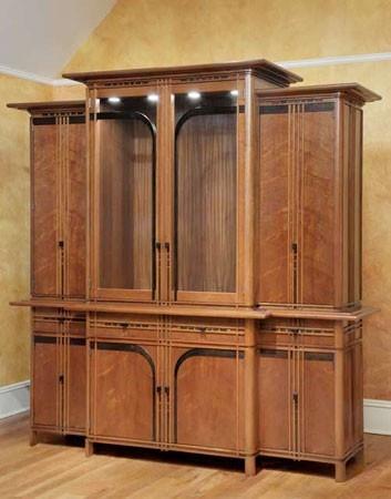 Art deco kitchen wall cabinet art deco art nouveau - Art deco kitchen cabinets ...