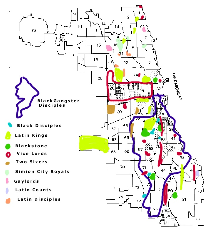 Chicago gang map south side