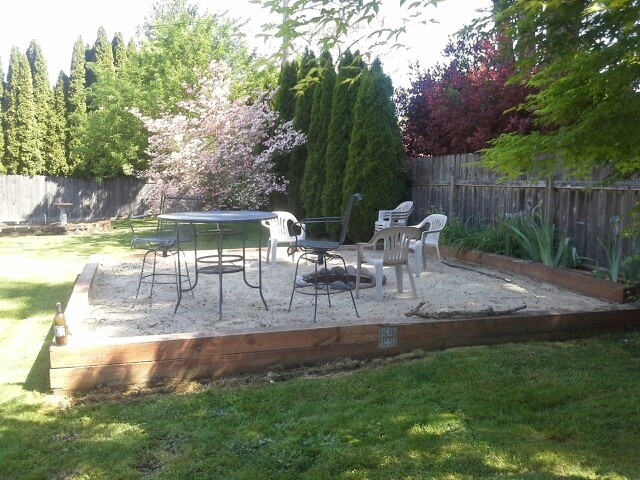Sand Fire Pit Backyard : Back yard sand filled fire pit  Outdoor Fun  Pinterest