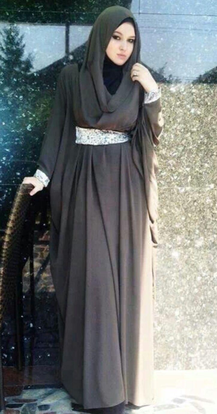 Long Sleeve Dress Elegant Muslimah Fashion Pinterest