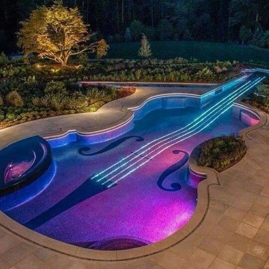 violin shaped pool awesome photos pinterest
