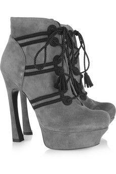 Yves Saint LaurentPalais suede ankle boots originally $950