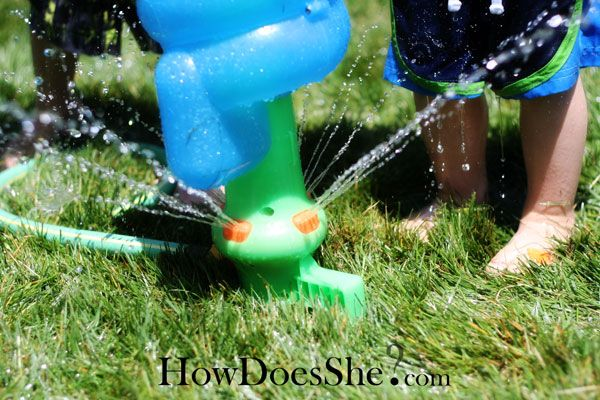Great ideas for a backyard water party