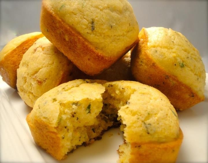 Cornbread Squares - Orange with Rosemary, Bacon with Caramelized Onion ...