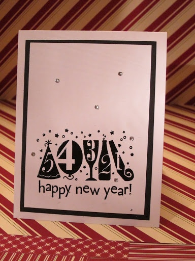 Stampin' Up New Year's Card 2012