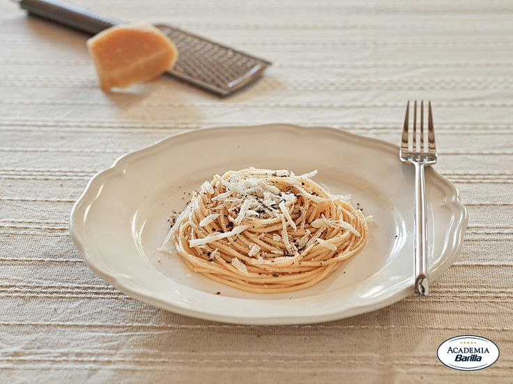 "In #Rom we call it ""Cacio e pepe""....Spaghetti with Cheese and Pepper"