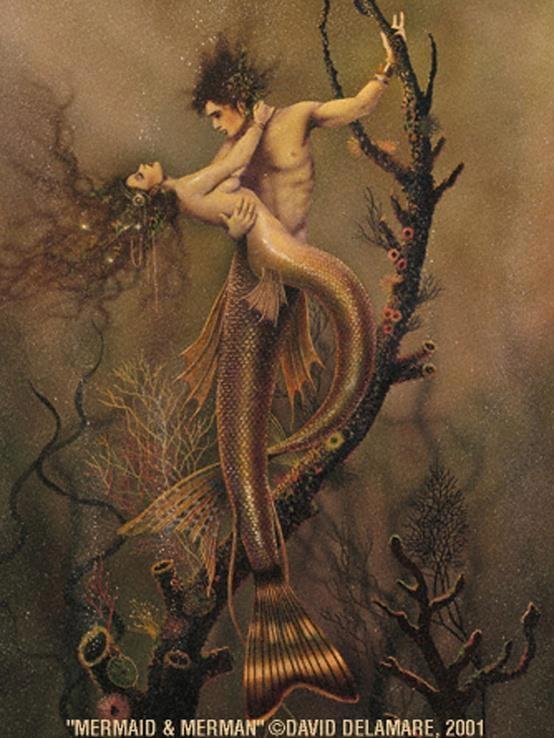 Mermaid & Merman couple | starving artist | Pinterest