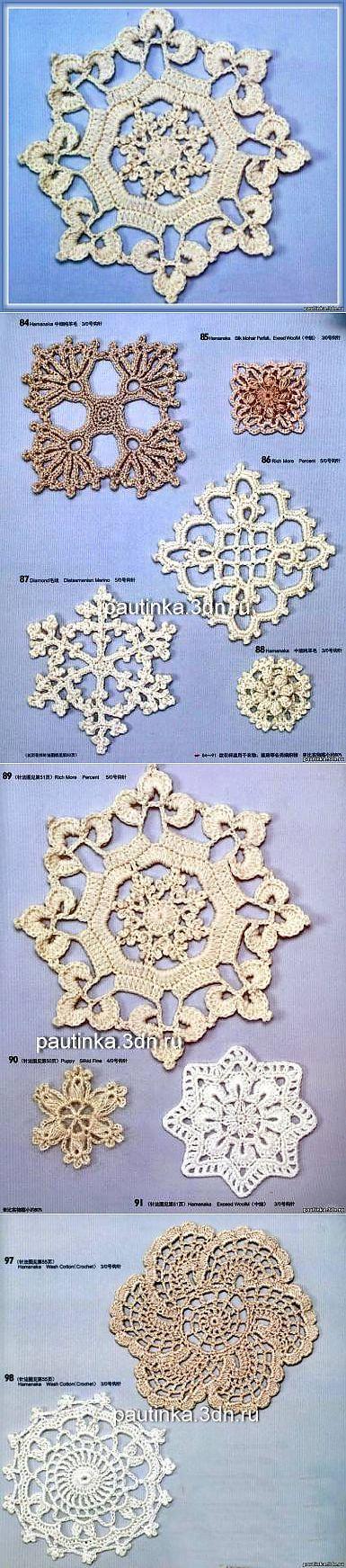 Схемы вязания мотивов для скатерти крючком схемы