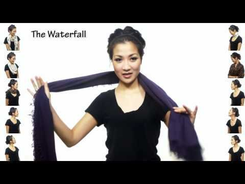 I have watched this many times and bought a scarf.  But I haven't actually tried this yet :)