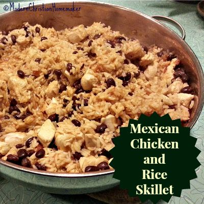 Mexican Chicken and Rice Skillet   Mexican Inspired Food   Pinterest