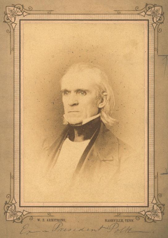 Portrait Of James K Polk 1795 1849 History