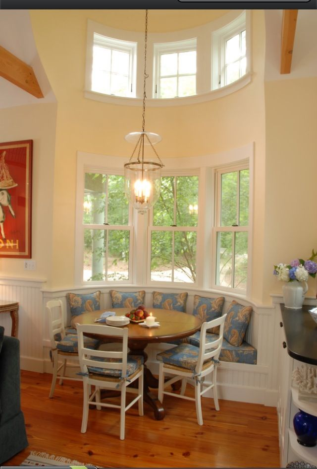 Kitchen nook built in table decorating pinterest