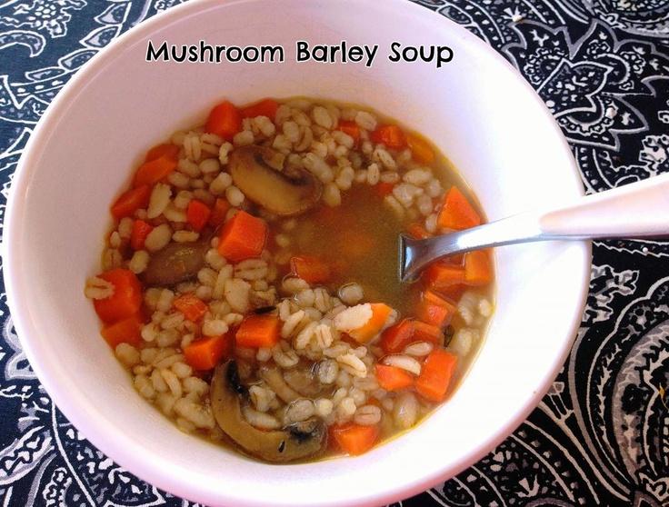 Mushroom Barley Soup | Lex's Life as a New Wife | Pinterest