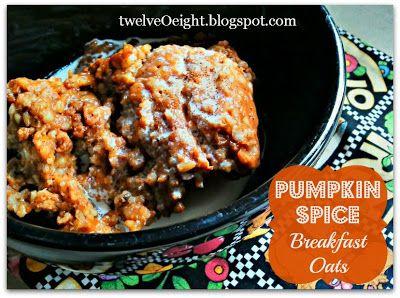 ... Oats-twelveOeight.blogspot.com #pumpkin #crock pot #slow cooker #