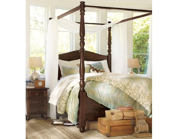 Love the bedding and four poster bed for the home bedrooms pint - Bedspreads for four poster beds ...