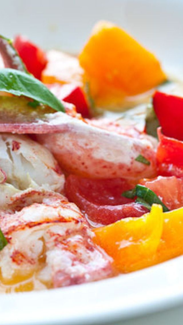 Butter Poached Lobster With Fresh Tomatoes Recipe — Dishmaps