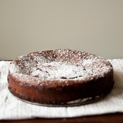 Chocolate Pecan Torte--a nutty, toasty nearly flourless cake with a ...