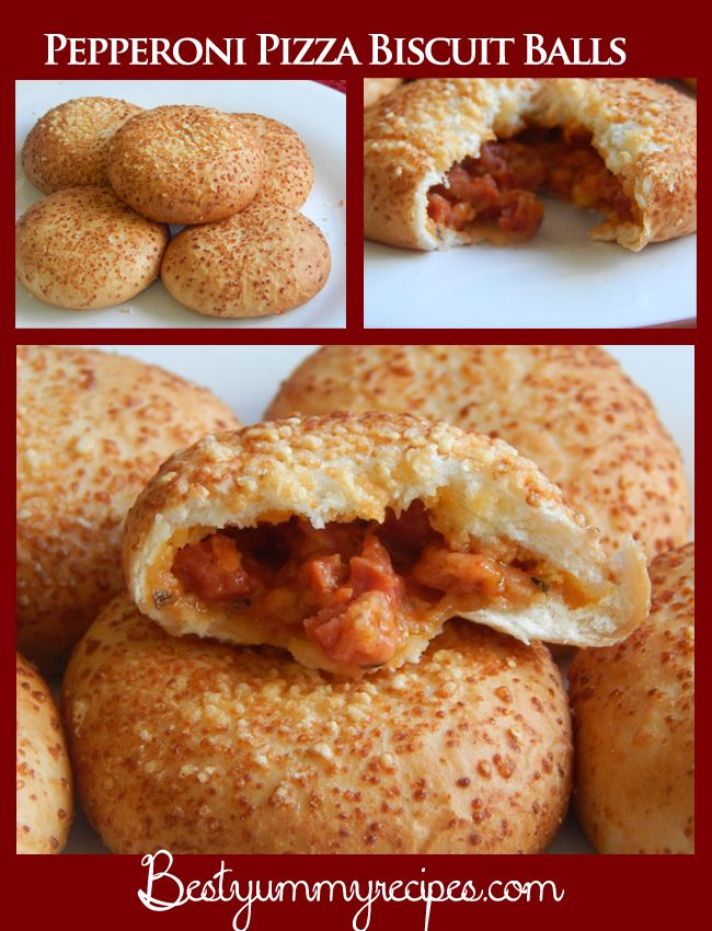 Pepperoni Pizza Biscuit Balls | Appetizer Recipes | Pinterest