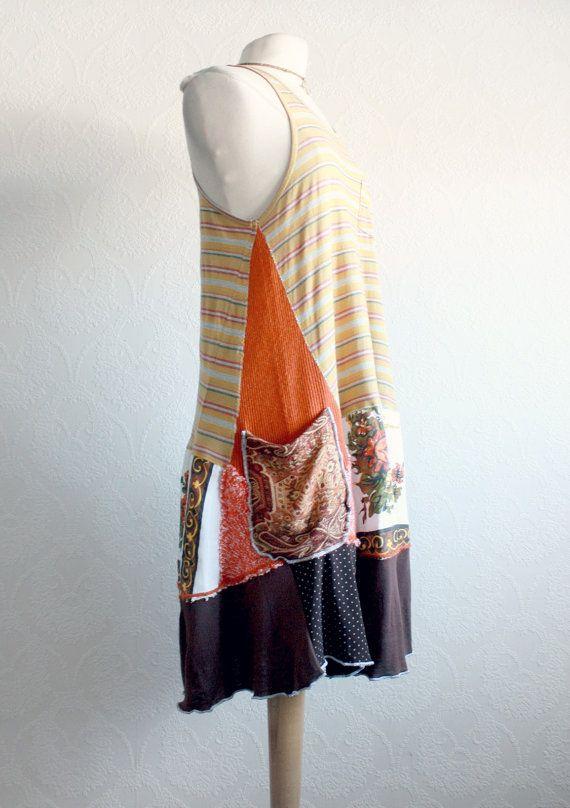 Brown Cargo Dress Bohemian Clothes Women's by BrokenGhostClothing, $88
