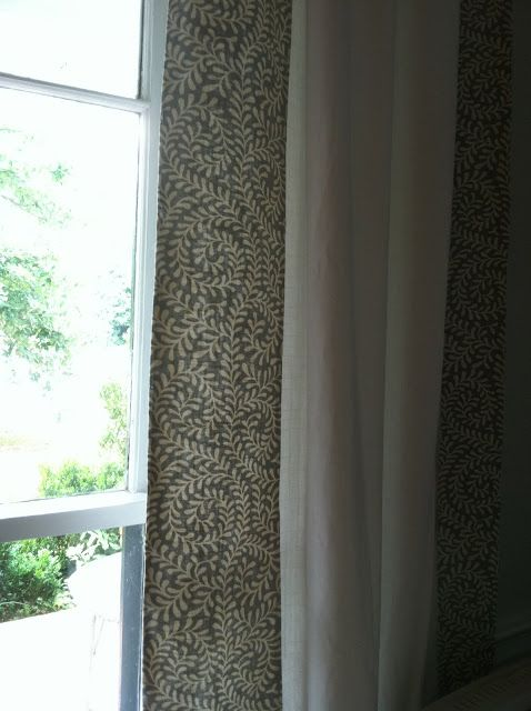 flank ikea linen curtains with higher end fabric you like