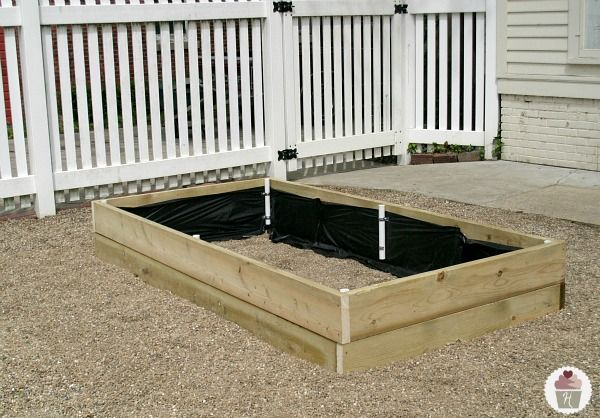 How to make a raised garden bed cover Raised garden bed covers