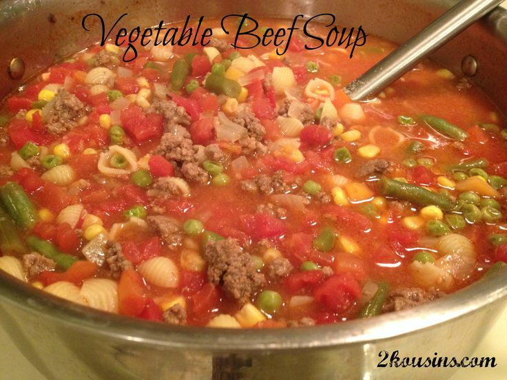 ... mom's vegetable beef soup can get me through the week. This is su