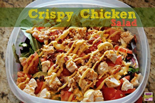 Crispy Chicken Salad with Cheddar & Bacon Kraft Fresh Take #KraftFres ...