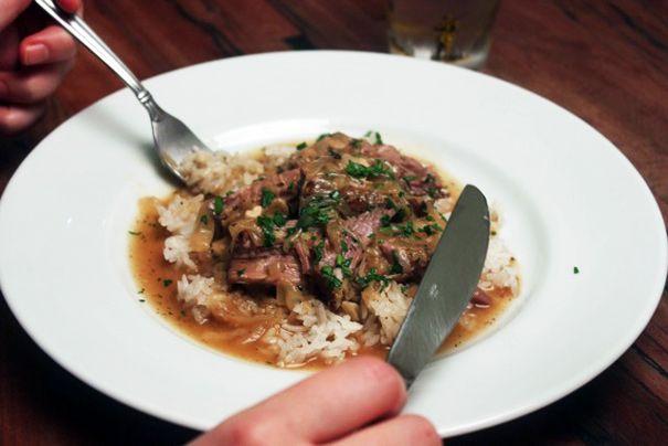 Smothered Pork Roast Over Rice - | Dinner Time: Pork | Pinterest