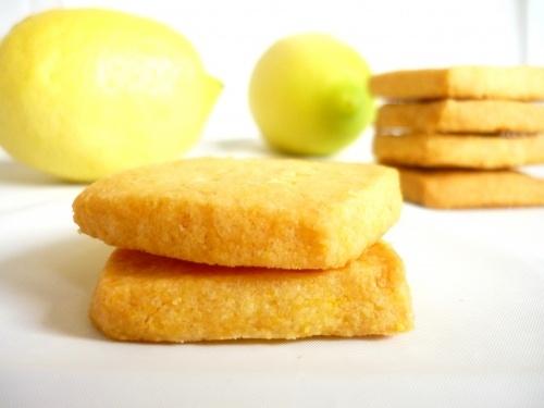 Lemon cornmeal shortbread cookies-sounds good