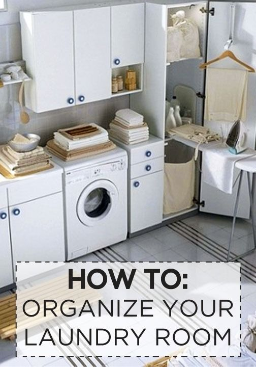 How to organize your laundry room for How to organize your home