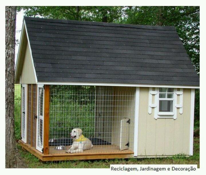 Dog pen diy dog houses cat houses pinterest for Dog house pen