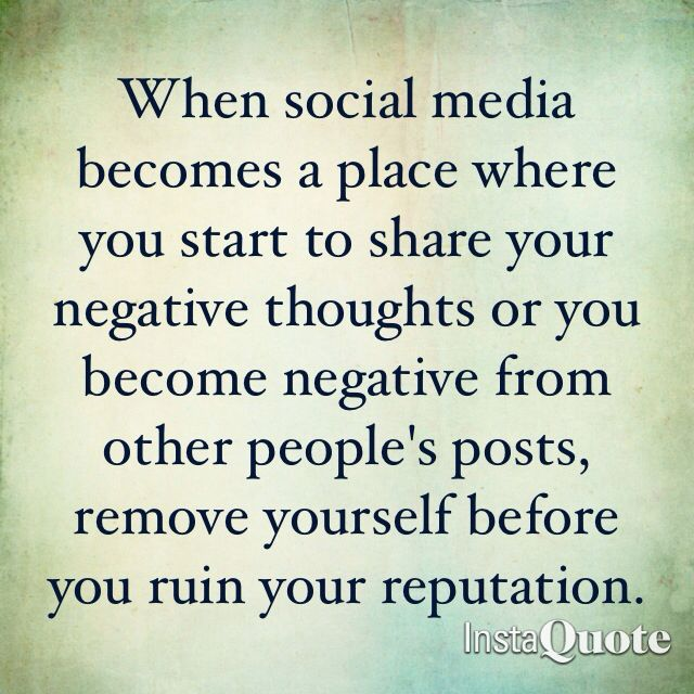 negative thoughts on social media The negative effect of social media on society and individuals by brian jung.