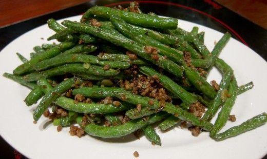 sichuan dry fried green beans szechuan dry fried green beans sichuan ...