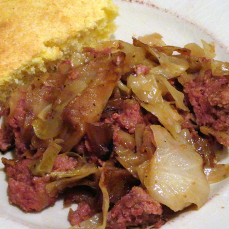 Fried Cabbage and Corned Beef Recipe | Just A Pinch Recipes