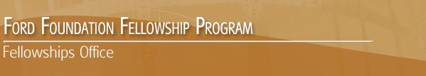 ford foundation diversity predoctoral dissertation fellowships