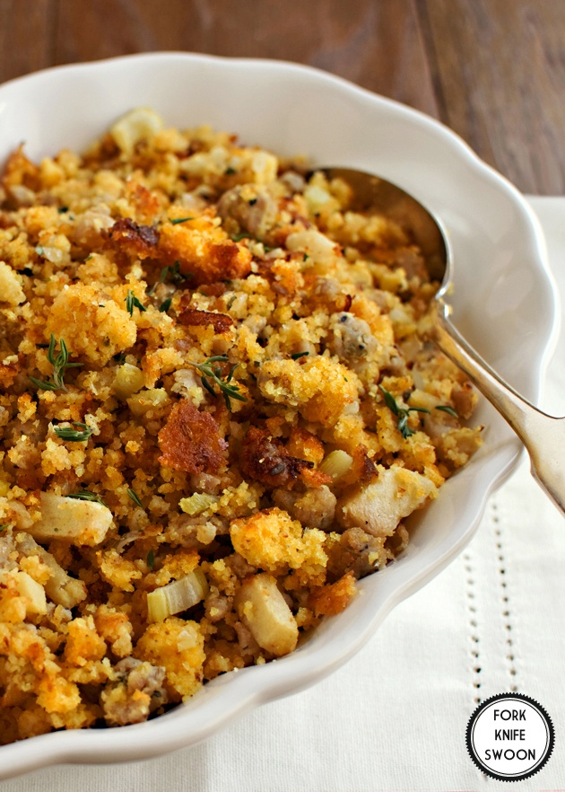 ... stuffing muffins with ham and sage cornbread and sausage stuffing