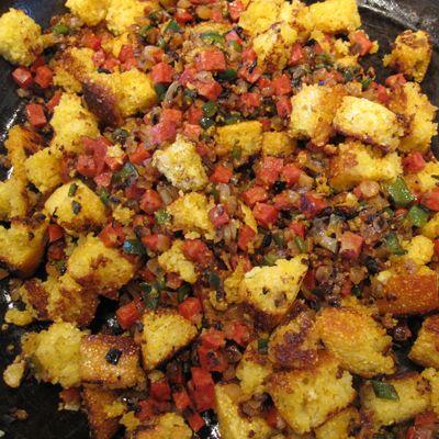Chorizo Cornbread Stuffing | Recipe