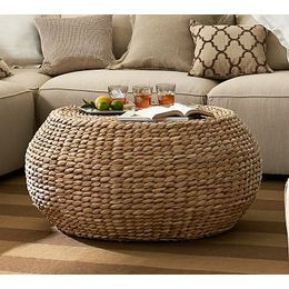 Pottery Barn Round Woven Seagrass Coffee Table Reviews Prices