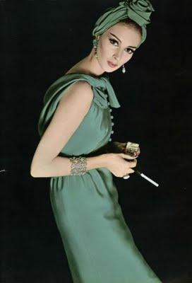 Wilhelmina Cooper in Green