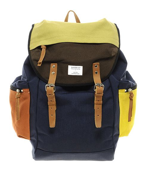 Colorblock this Fall with the Sandqvist Backpack from ASOS