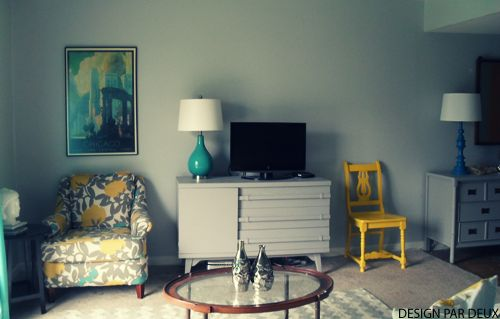 Teal Yellow And Gray Living Room Decor Pinterest