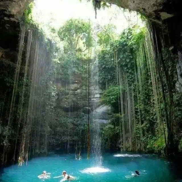 Pin by moni ru on moni pinterest Chichen itza mexico natural swimming pool
