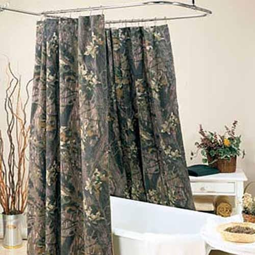 Hookless Brand Shower Curtain Mossy Oak Cushion