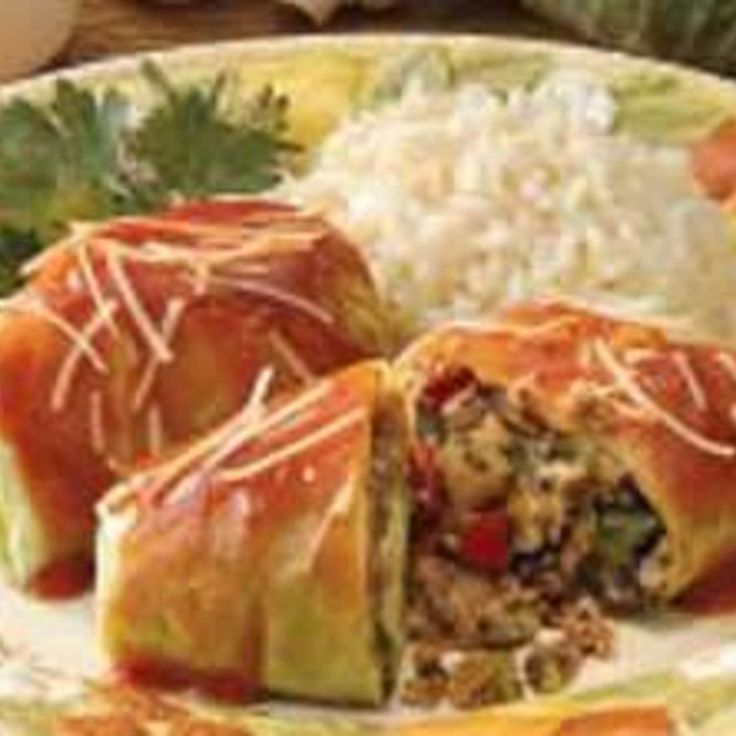 Vegetarian Cabbage Rolls Recipe | .Veggie-A-Doodle-Do | Pinterest