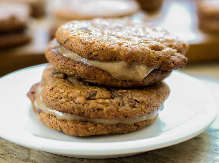 "Cinnamon Maple Cream Filled ""Oatmeal"" Raisin Sandwich Cookies # ..."