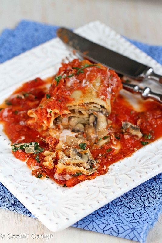 Kale, Mushroom & Sun-Dried Tomato Lasagna Rolls Recipe {Vegetarian ...