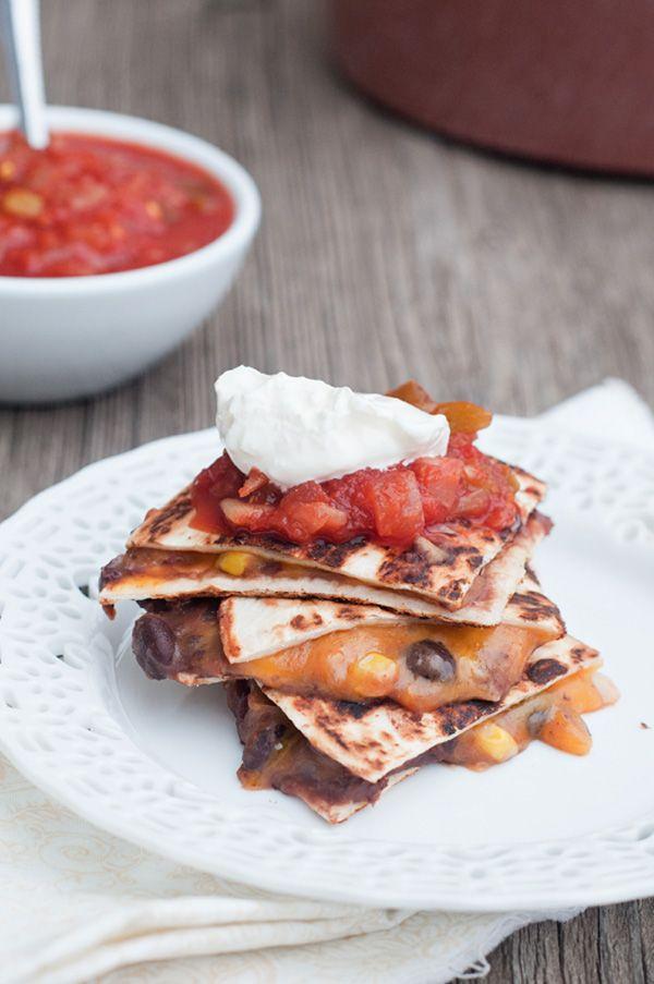 Black Bean Corn and Cheese Quesadillas Meatless Meal @Kristen ...