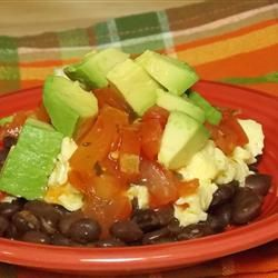 "Black Bean Breakfast Bowl | ""This quick and easy breakfast is loaded ..."