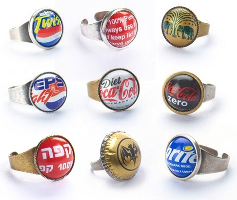 mens bags leather Recycled Bottlecap Jewelry  Designorg  more jewelry
